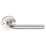 Madinoz Stainless Steel Urban Leversets - Round Rose - Privacy